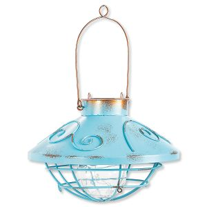Hanging Blue Solar Light