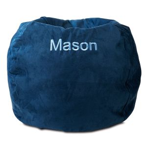 Custom Navy Bean Bag Chair