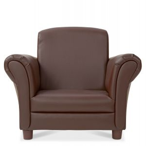 Coffee Faux-Leather Child's Armchair by Melissa & Doug®