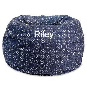 Blue Kaleidoscope Custom Bean Bag Chair