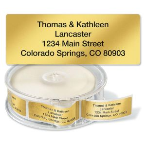 Gold Foil Standard Rolled Return Address Labels