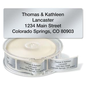 Silver Foil Standard Rolled Address Labels