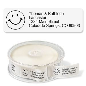 White with Symbol Standard Return Rolled Address Labels