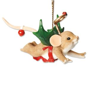 My Little Holly Day Angel Ornament by Charming Tails®