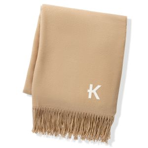 Camel Two Toned Reversible Personalized Throw