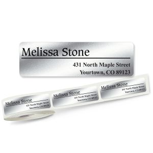 Conventional Off-Center Rolled Address Labels - 3 Colors (Roll of 500)