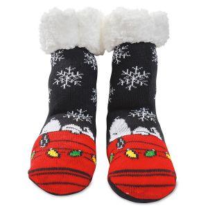 Warmer Socks Snoopy & Snowflakes