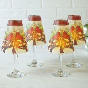 Cardinal Wreath Wineglass Shades