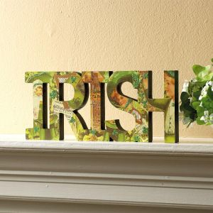 "Diecut Wooden ""IRISH"""