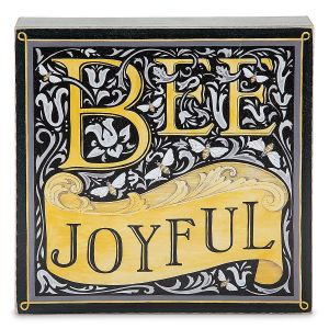 Bee Joyful Box Wall Sign