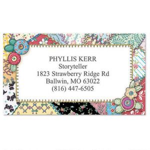 Crazy Quilting Business Card