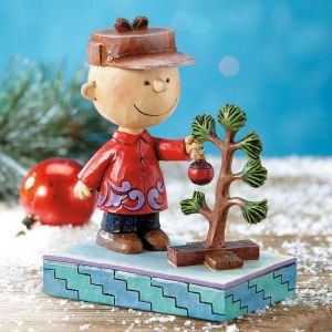 Charlie Brown with Christmas Tree by Jim Shore