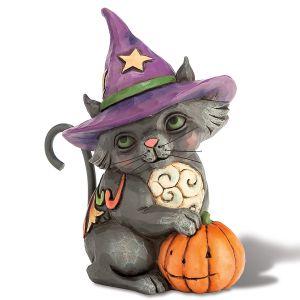 Mini Black Cat Witch Figurine by Jim Shore