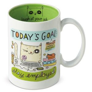 Today's Goal Cat Mug