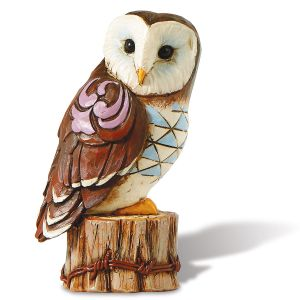 Jim Shore Owl on Stump Mini Figurine