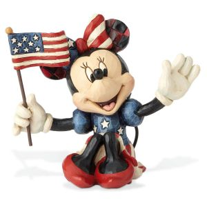 Jim Shore's Mini Patriotic Minnie Mouse Figurine