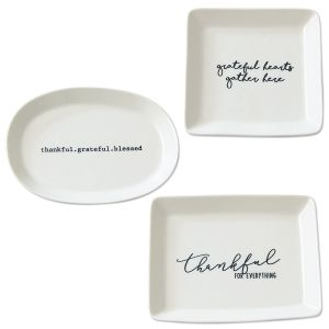 Thankful Porcelain Trinket Dishes