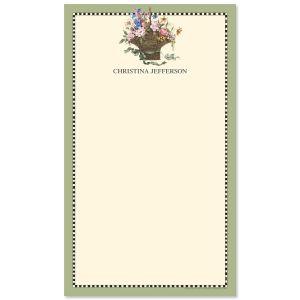 Floral Basket Notepad