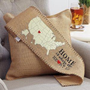 Burlap Home Pillow Wrap