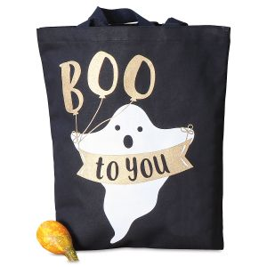Ghost Canvas Treat Bag