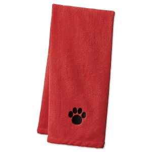 Red Pet Drying Towel
