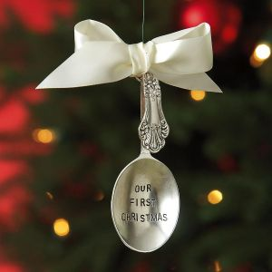 Our First Personalized Christmas Ornament