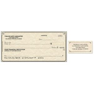 Antique Duplicate Checks With Matching Address Labels