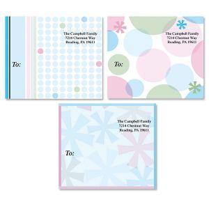 Retro Patterns Package Labels  (3 Designs)