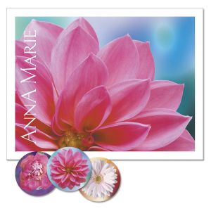Floral Passion Personalized Note Cards
