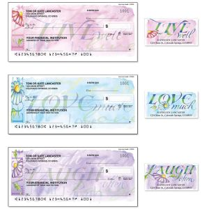 Live, Love, Laugh Duplicate Checks with Matching Address Labels