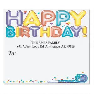 Happy Birthday Package Labels
