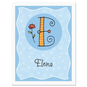 Sue Dreamer Initial Personalized Note Cards