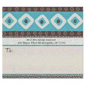 Brown & Turquoise Package Labels