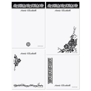 Black & White Memo Pad Set