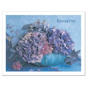 Hydrangea Personalized Note Cards