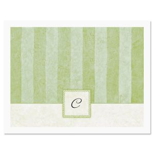 Tailored Elegance Initial Personalized Note Cards