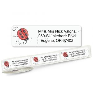 Ladybug Rolled Return Address Labels