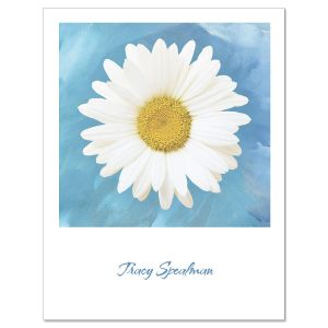 Photographic Daisy  Personalized  Note Cards