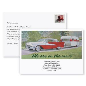 Travel Trailer New Address Postcards