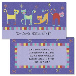 Double sided business cards colorful images fun cats double sided business cards colourmoves