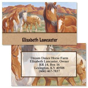 Loving Horses  Double-Sided  Business Cards