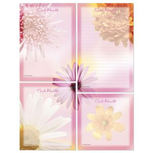 Illuminated Petals Memo Pad Set