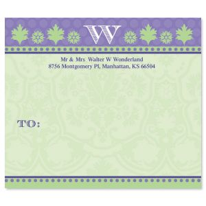 Damask Package Labels