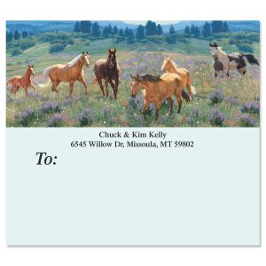 Gallop Horses  Package Labels