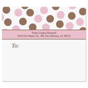 Pink Polka Dots Package Labels