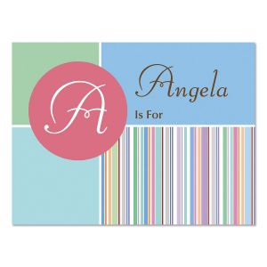 A is for...Initial Personalized Note Cards