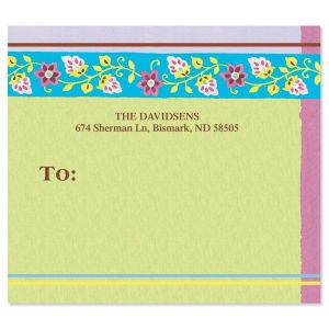 Floral Patterns  Package Labels