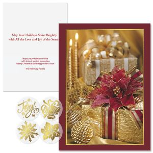 Wrapped in Radiance Foil Christmas Cards