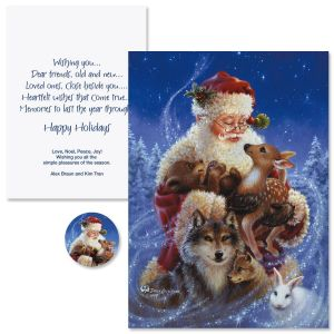 Santa's Friends Christmas Cards