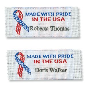 Made With Pride In The USA Personalized Sewing Labels